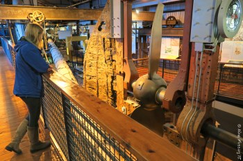 Inside the museum of the SS Great Britain