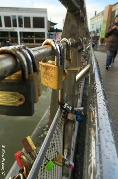 Love locks on Bristol's Pero's Bridge