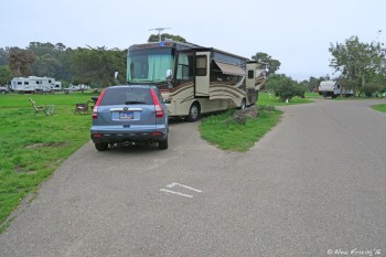 View of our wide-open site #17. Easy access and full solar all day.