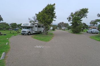 Another row view. RV in site #86 on left.