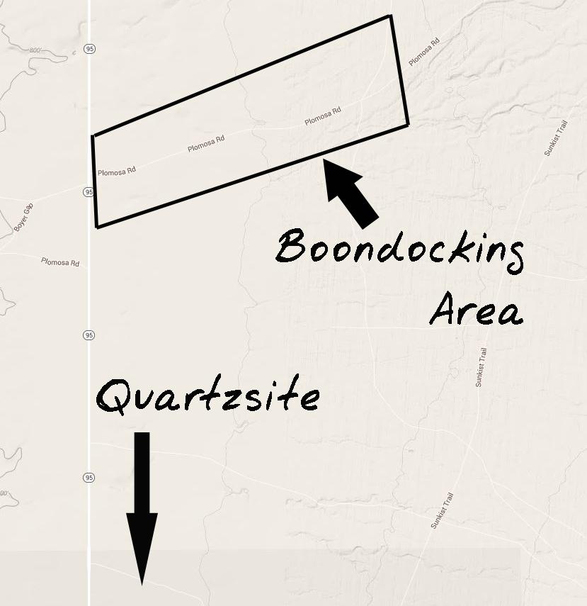 boondocking site review  u2013 plomosa road  quartzsite  az  u2013 wheeling it