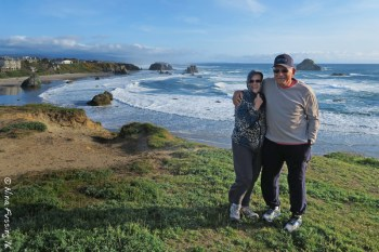 On the coast in Bandon, OR (April 2016)