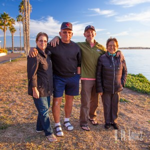 Our photo wizard friend Hector captured this wonderful pic of Paul's family in San Diego (Jan, 2016)