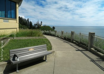 My favorite lunch spot, when it's nice. I can see Cape D lighthouse from here.