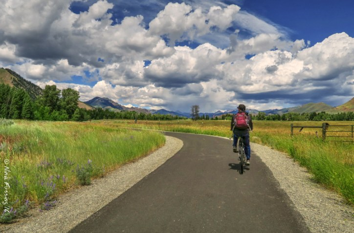 The bike trail to town is smooth as butter