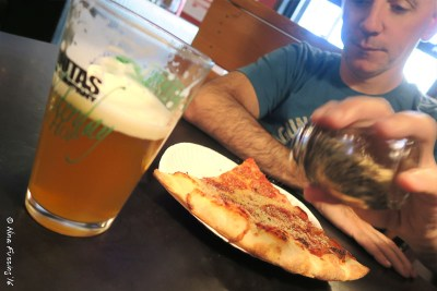 Pepperoni & Beer - Paul is in heaven!