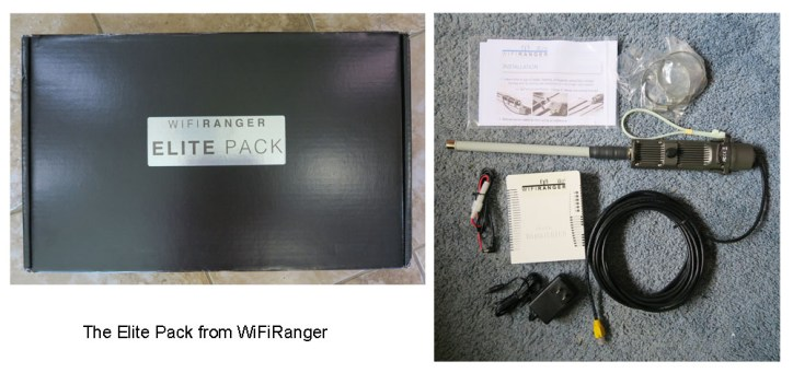 Package contents of the WiFiRanger Elite Pack