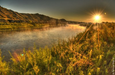 First light on the Little Missouri River
