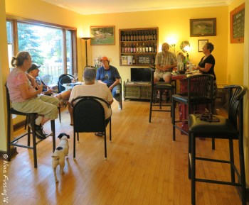 After hours socializing at 4e Winery