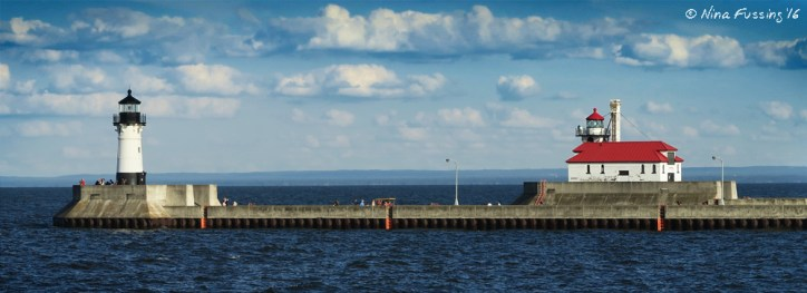 The Duluth Harbor Lights