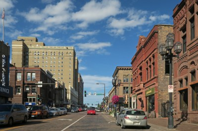 Downtown Duluth has lots of old brick charm