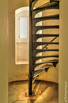 Lighthouse stairs at Au Sable