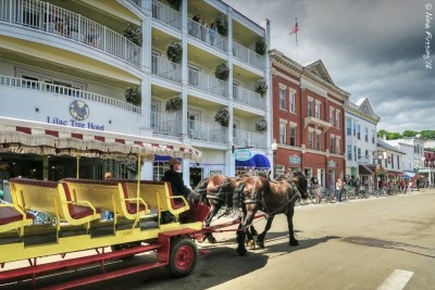 Nothing but horse-drawn carriages here