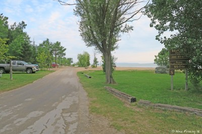 Start of S section by the swim beach. Site 175 on left.