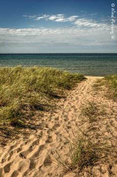 Sand and lake