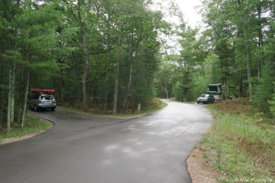 View looking towards our RV. Site 423 on left. Our rig in 422 behind. You can see how great separation is here.