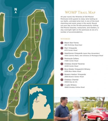 Old Mission Peninsula Wine Trail Map