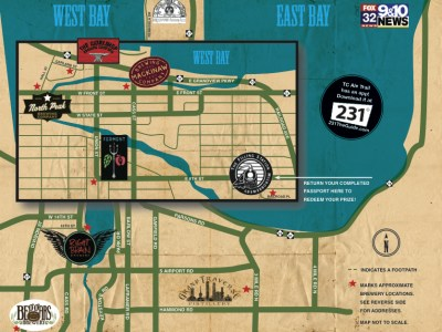 Traverse City Ale Trail map