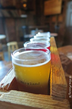A tasty sampler at Burley Oak Brewery