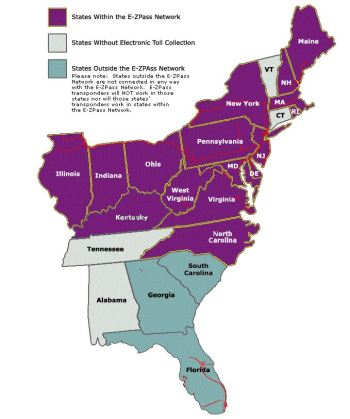 EZ Pass works in 15 States