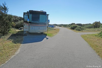 Front view of our site P22. This was nicely flat and long. Plus no-one else was in our area for the time we were here.