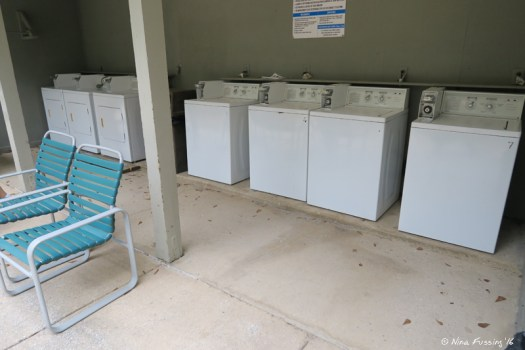 View of laundry machines (next to facilities)