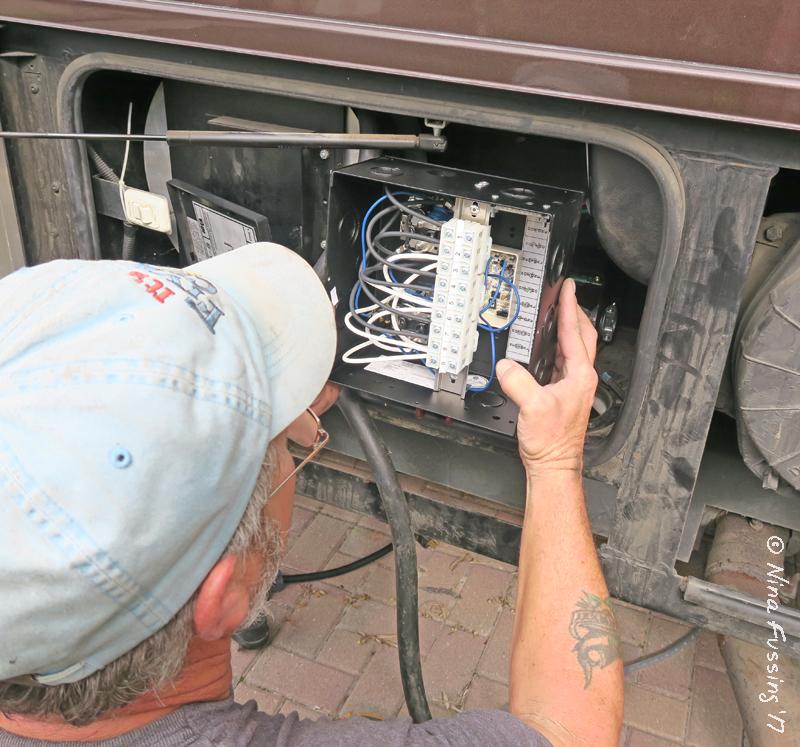 Motorhome electrical hookup