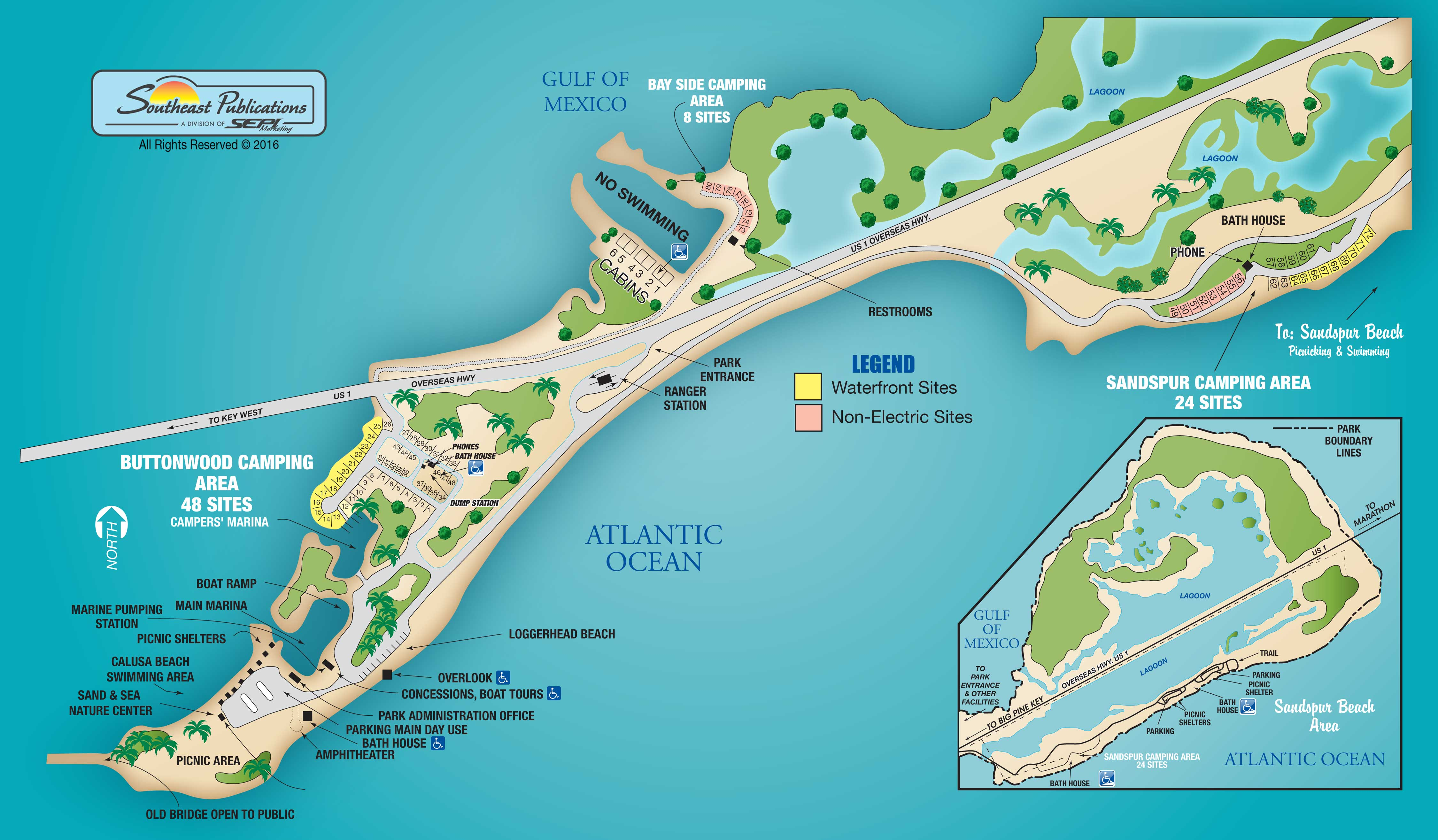 ... General Map Of Bahia Honda. Buttonwood Campground (on Left) Is The Only  Place That Accepts RVs. Other Camping Areas Are Tent Or Small Van/pop Up  Only.