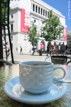 An Espresso in the shade by the Opera