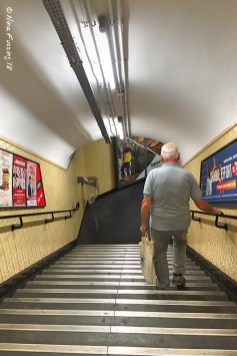 Dad on the move (there are SO many staircases!)