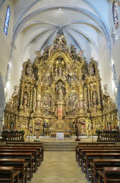 The altar of Santa Maria Church in Cadaques