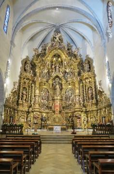 The altar of Santa Maria Church in Cadaques