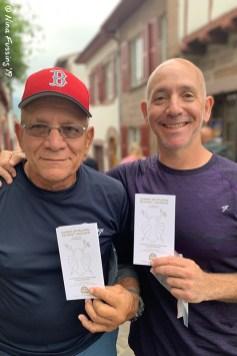 The two boyz & their Camino passports