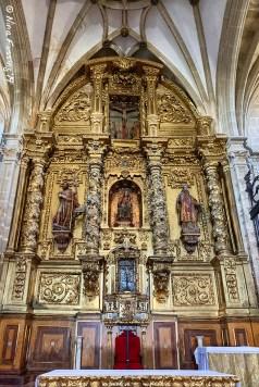 The main altar in Iglesia de Santa María La Mayor