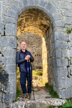 Paul at the NE entrance of the Castle