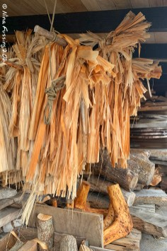 Hemp being dried for rope