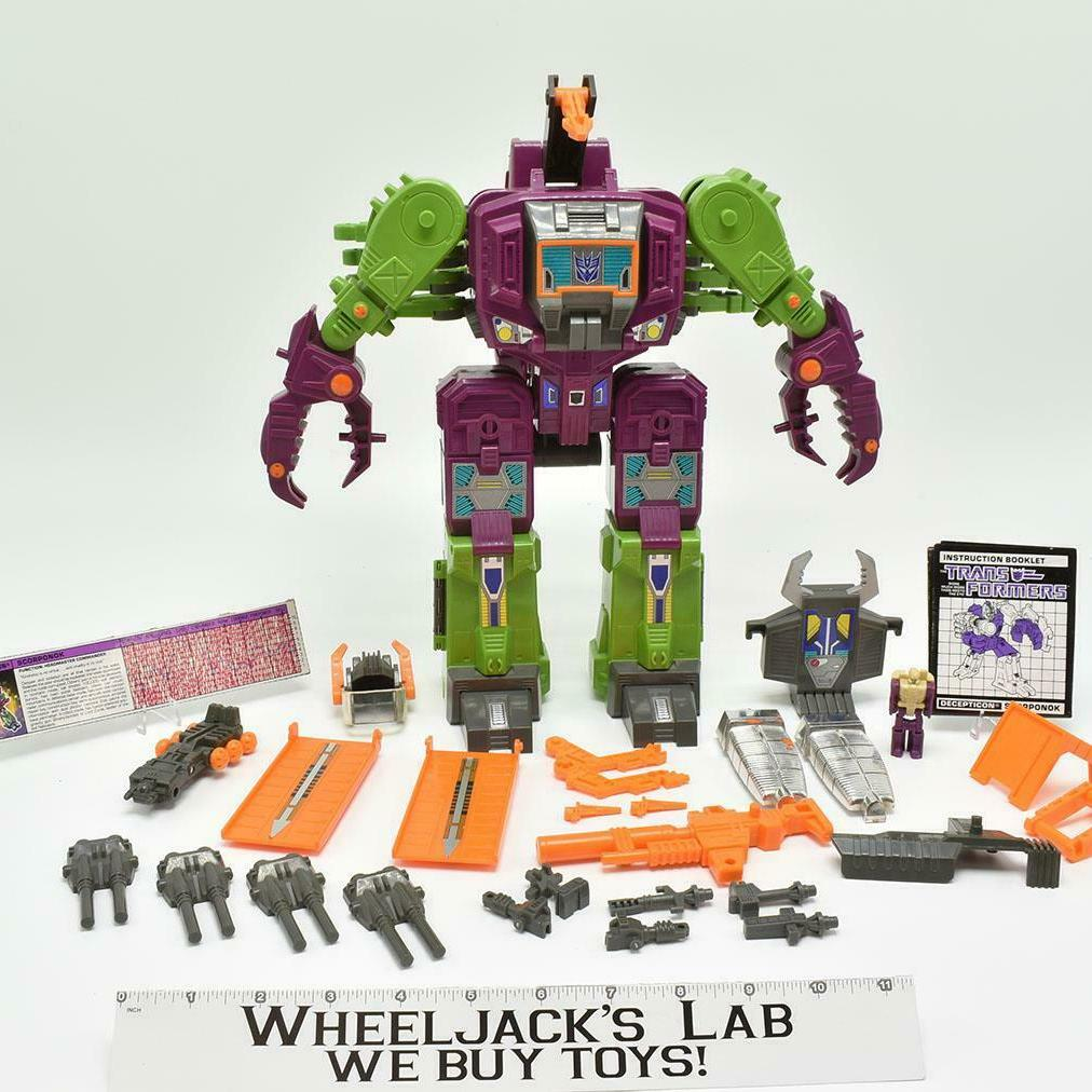 Hasbro 1987 Transformers Scorponok