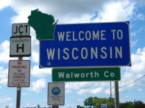 USA Welcome signs - Wisconsin 2016