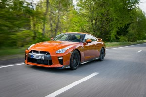 The 2017 Nissan GT-R features a 3.8-liter V-6 engine and produces 565 horsepower. (Nissan)