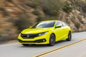 The 2019 Honda Civic Coupe Sport is powered by a 2.0-liter, 4-cylinder engine producing 158 horsepower and 138 lb.-ft. of torque. TNS