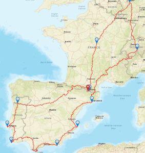 Geänderte Routenplanung