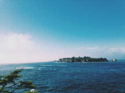 coast of neah bay Washington looking at cape flattery lighthouse