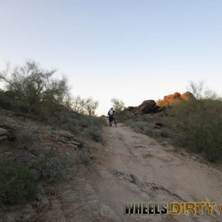 One of the few hike a bike sections on National Trail