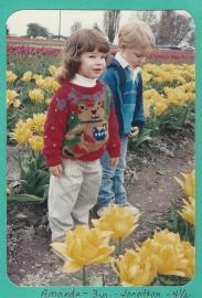 Amanda & Jon-Tulips Apr 91