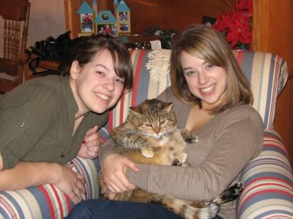 Amanda, Mittens & Caitlin
