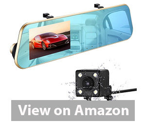 Best Rear View Camera - isYoung 720P HD Car Video Recorder Mirror Dash Cam Rearview Mirror Cam Review