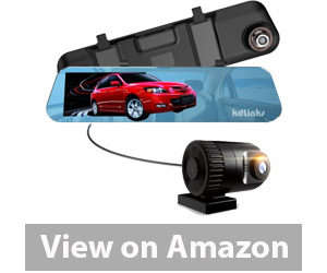 Best Rear View Camera - KDLINKS R100 Ultra HD Front Rear wide Angle Anti-Glare Rear view Mirror Dual Lens Dash Cam Review