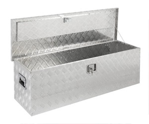 Giantex 49x15Aluminum Tool Box Tote Storage for Truck Pickup Bed Trailer Tongue W/Lock Review