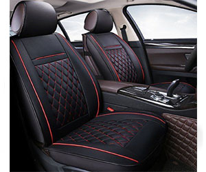 INCH EMPIRE Easy to Clean PU Leather Car Seat Cushions 5 Seats Full Set Review
