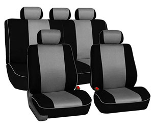 FH Group FH-FB032115 Unique Flat Cloth Seat Cover w. 5 Detachable Headrests and Solid Bench Black- Fit Most Car, Truck, SUV, or Van Review